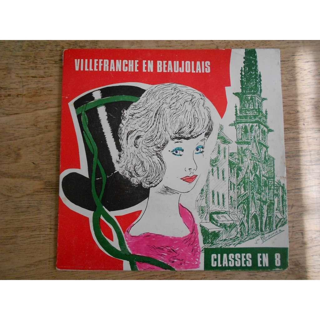 classes en 8 villefranche en beaujolais - fête des conscrits 26, 27 et 28 janvier 1968