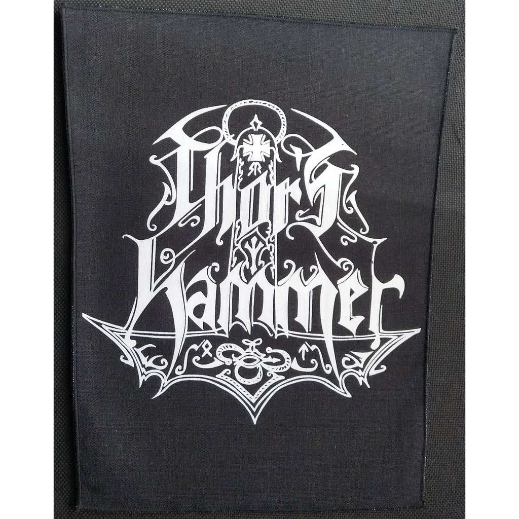 THOR'S HAMMER White Logo (Backpatch)