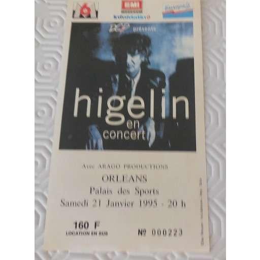 jacques higelin ticket de concert 21/01/1995 HIGELIN PALAIS DES SPORTS ORLEAN