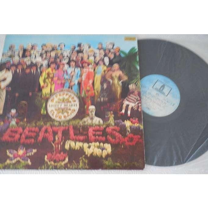 the beatles Sgt. Pepper's Lonely Hearts Club Band label bleu pcs 7027
