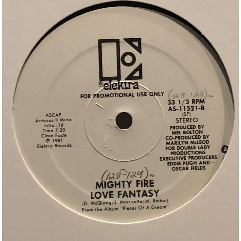 MIGHTY FIRE Love fantasy / i could write a love song
