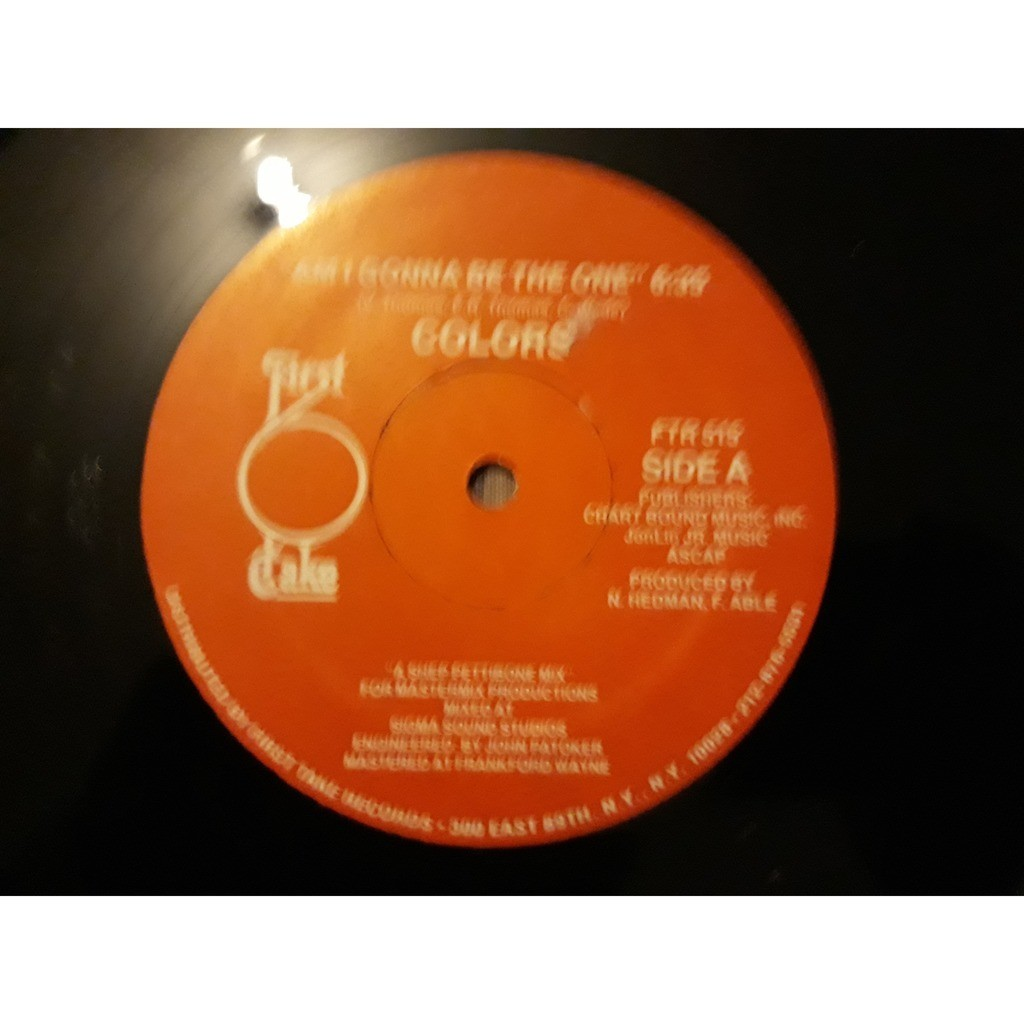 Colors (3) - Am I Gonna Be The One (12) 1983 colors (3) - am i gonna be the one (12) 1983