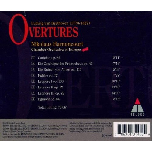 Beethoven / Harnoncourt Ouvertures
