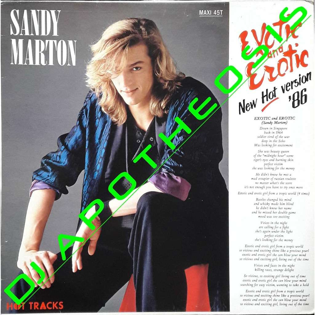 SANDY MARTON Exotic and erotic