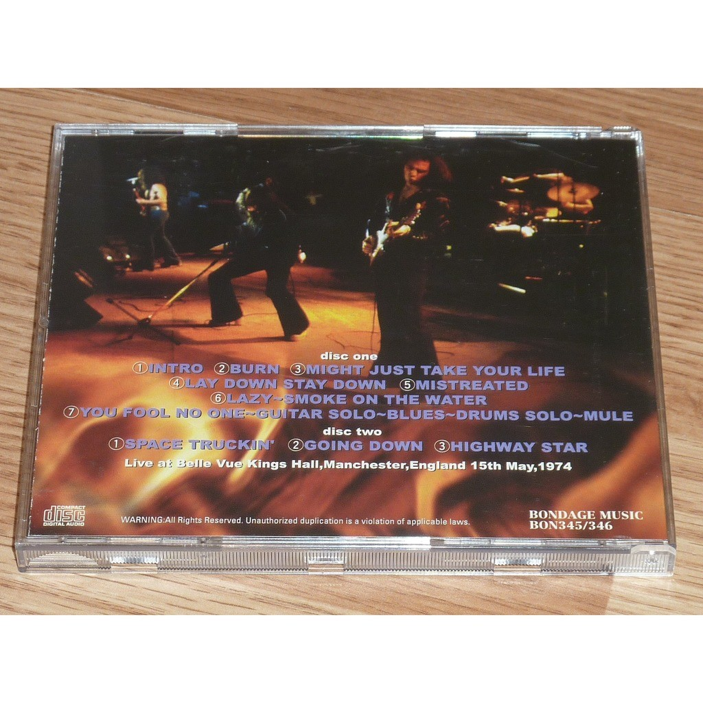 DEEP PURPLE MADE IN MANCHESTER 2CD