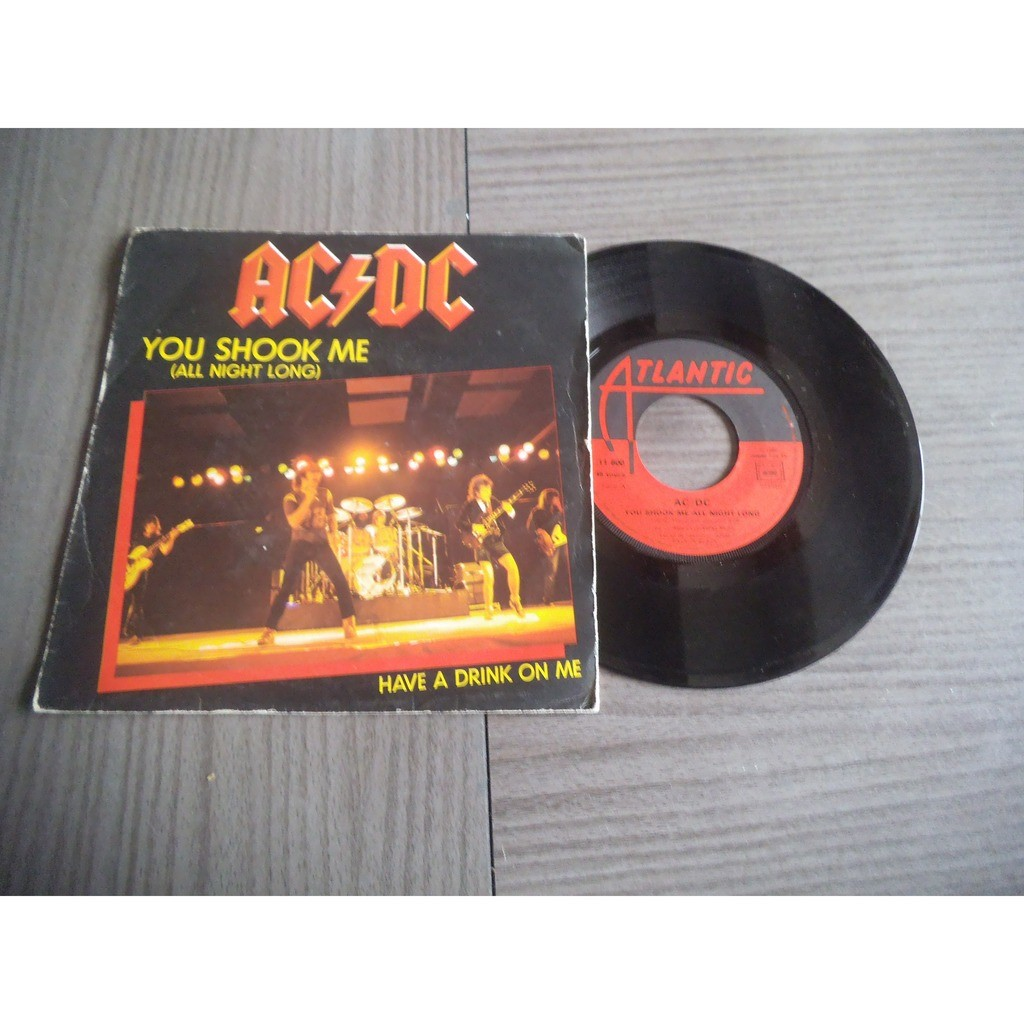 ac/dc you shook me (all night long) / have a drink on me