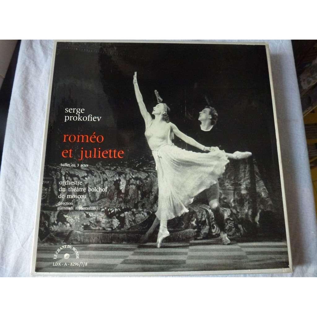 serge prokofiev Roméo et Juliette - guennadi rojdestvenski - ( 3 lp set box near mint condition )