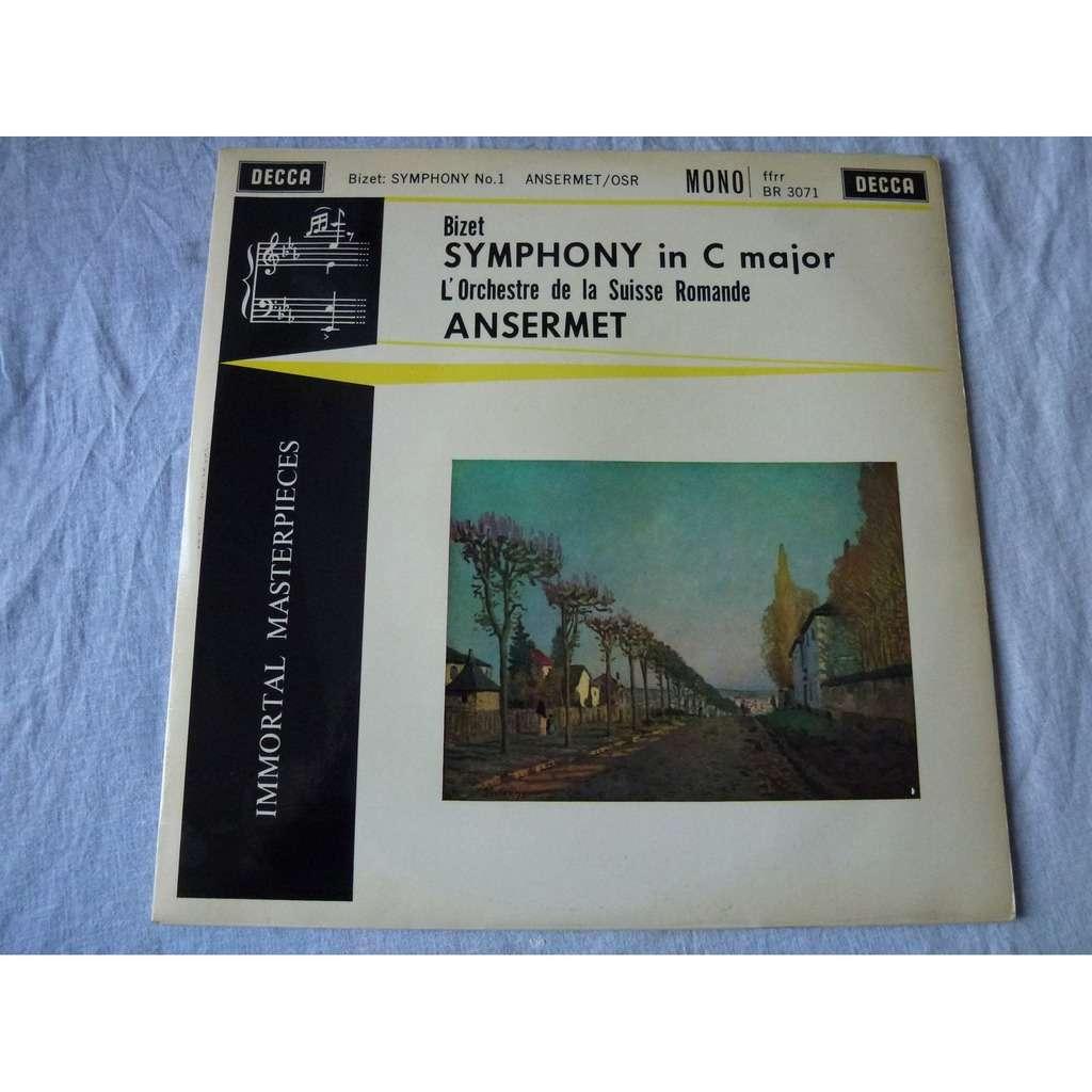 ernest ansermet - orchestre de la suisse romande Bizet : Symphony In C Major - ( near mint condition )
