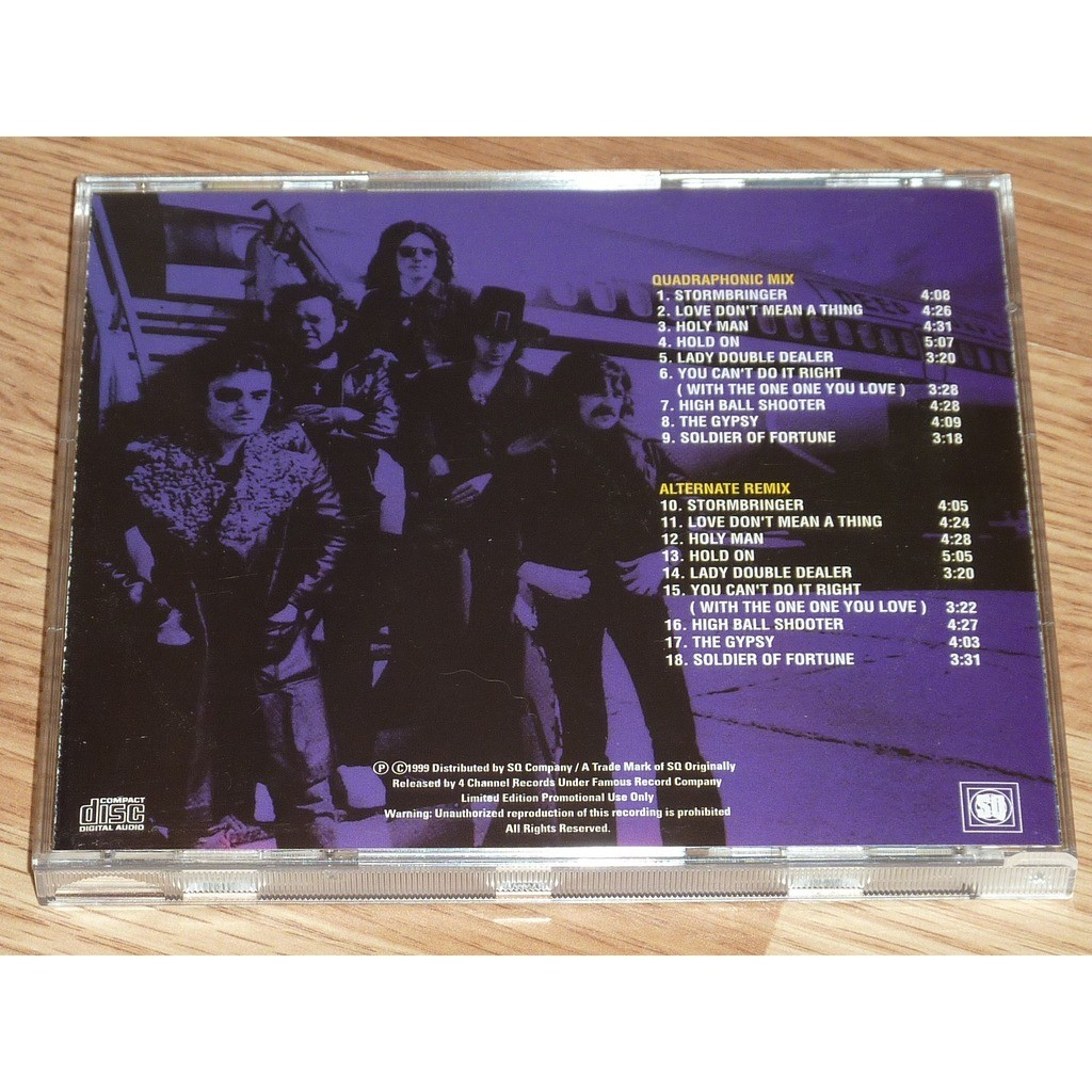 DEEP PURPLE STORMBRINGER (QUADRAPHONIC MIX & ALTERNATE REMIX) CD