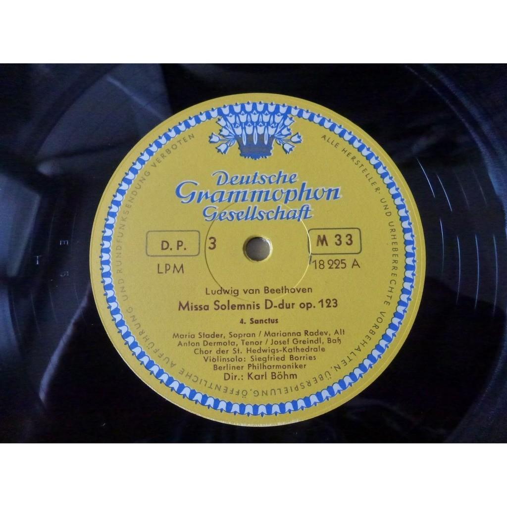 STADER - RADEV - DERMOTA - GREINDL - KARL BÔHM Beethoven : Missa Solemnis - ( 2 lp set box ed2 tulip near mint condition )