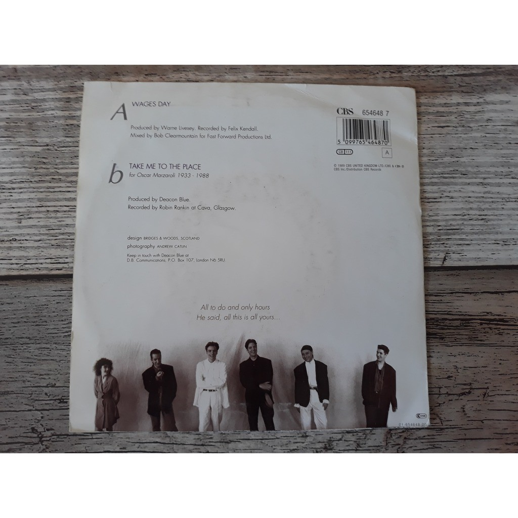Deacon Blue Wages day (1989)