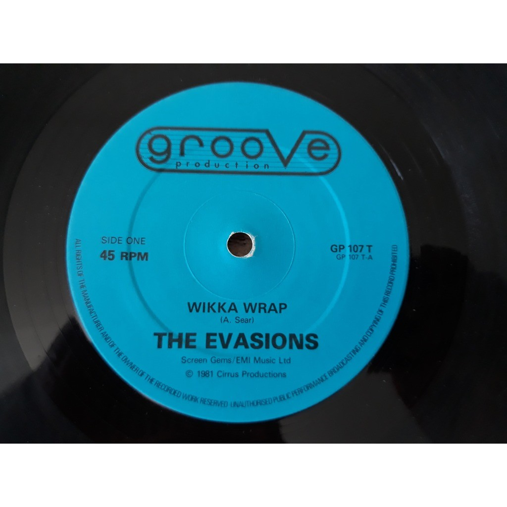 The Evasions - Wikka Wrap (12, Single, Dee) The Evasions - Wikka Wrap (12, Single, Dee)