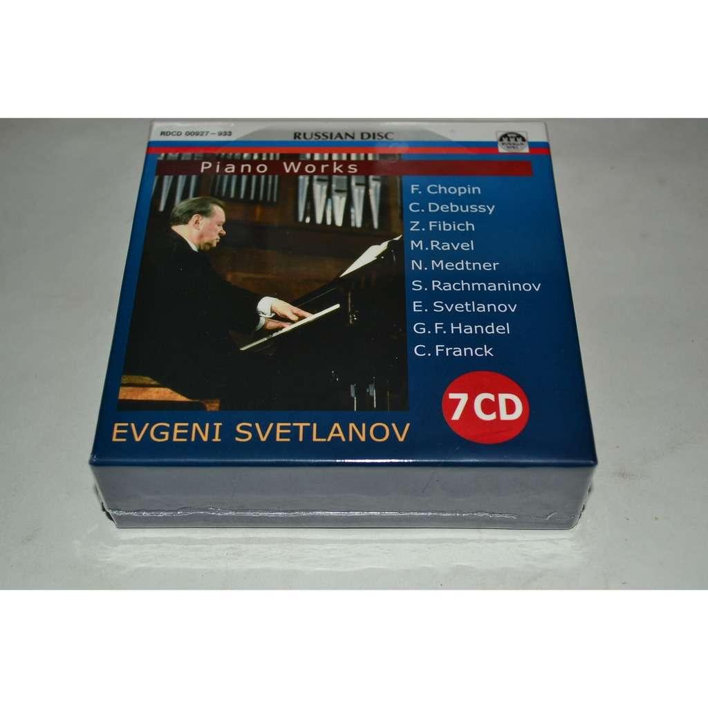 Evgeni Svetlanov CHOPIN DEBUSSY FIBICH RAVEL METNER RACHMANINOV HANDEL FRANCK 7CD