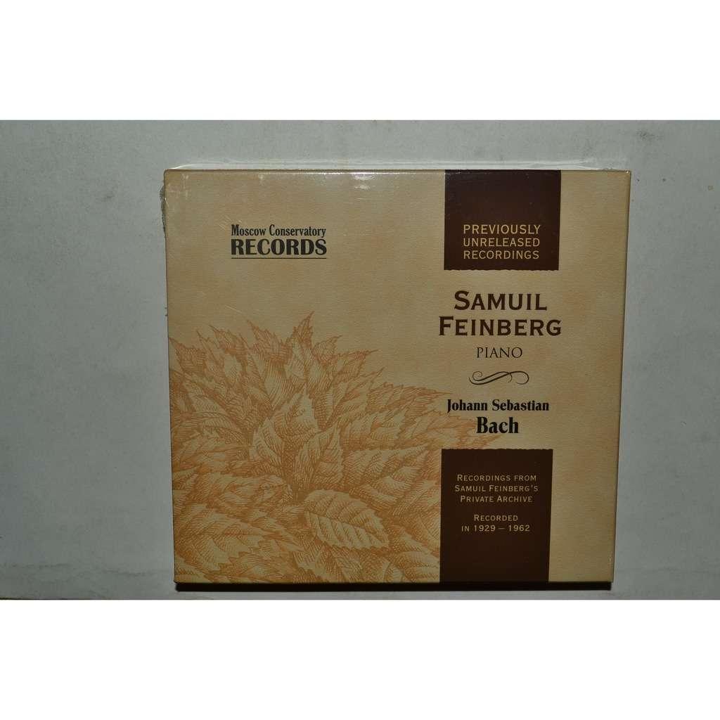 SAMUIL FEINBERG Bach 4CD