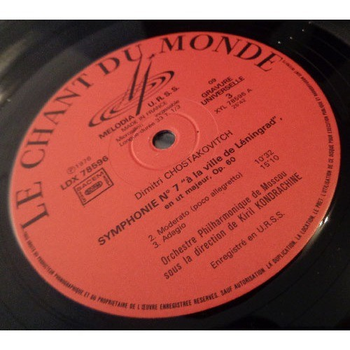 KIRIL KONDRACHINE SHOSTAKOVITCH Symphonie n°7