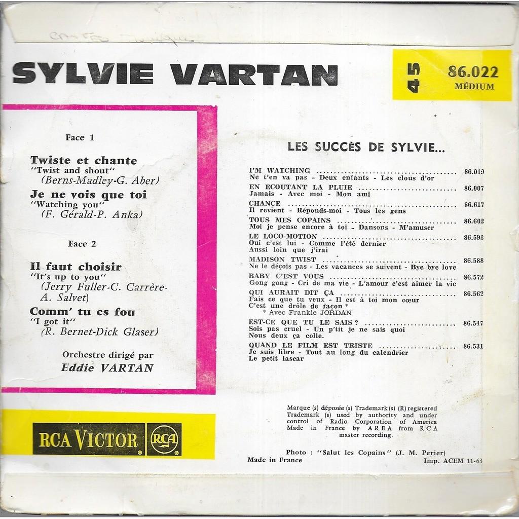 Sylvie VARTAN Twiste et chante