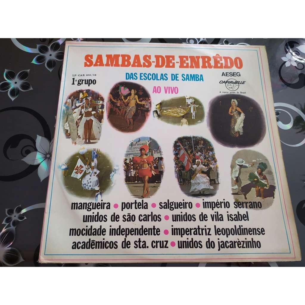 Escolas de samba ao vivo Sambas de enrêdo