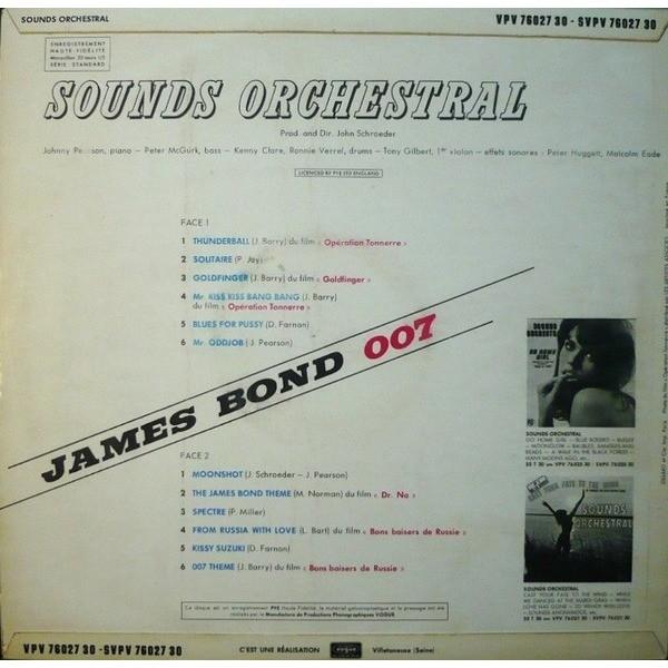 SOUNDS ORCHESTRAL (The) James Bond 007 (rare original French press - 1965 - Fleepback cover)
