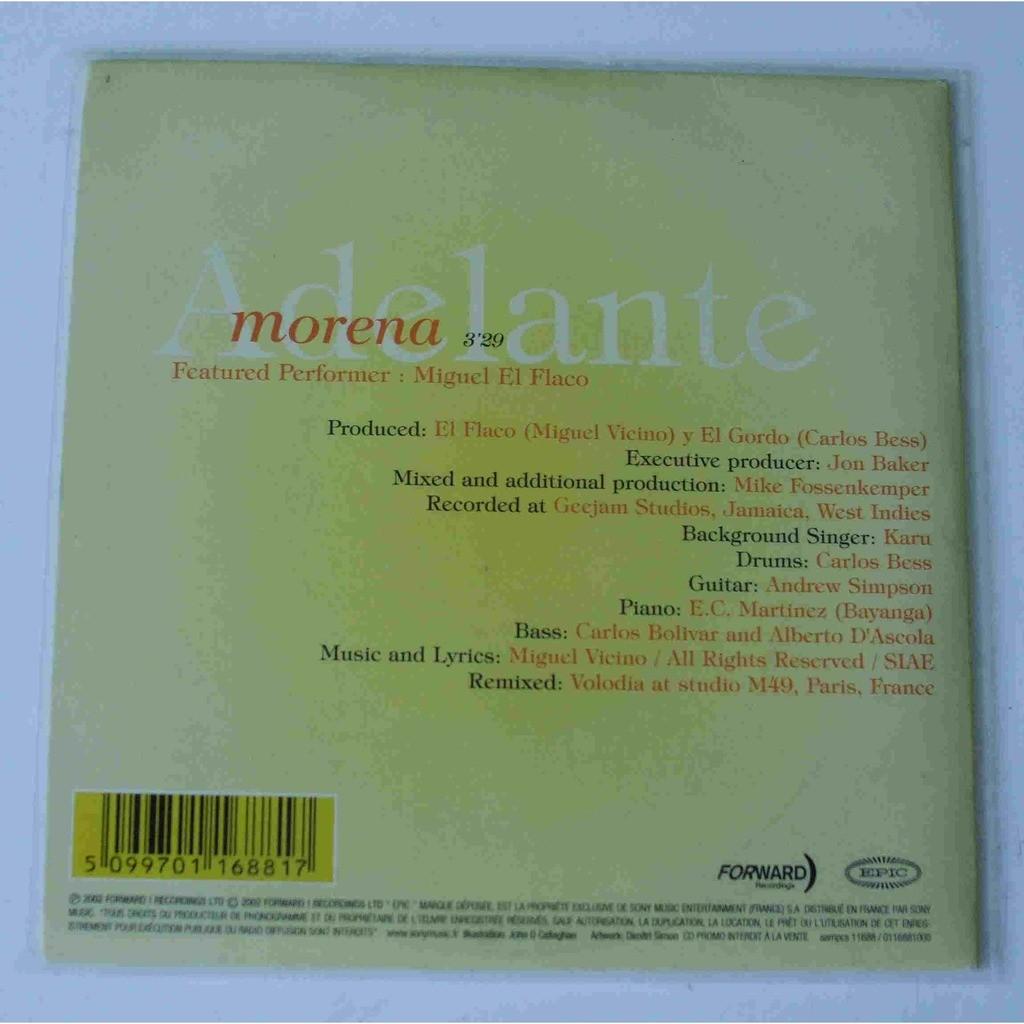 Adelante (feat. Miguel el flaco) Morena