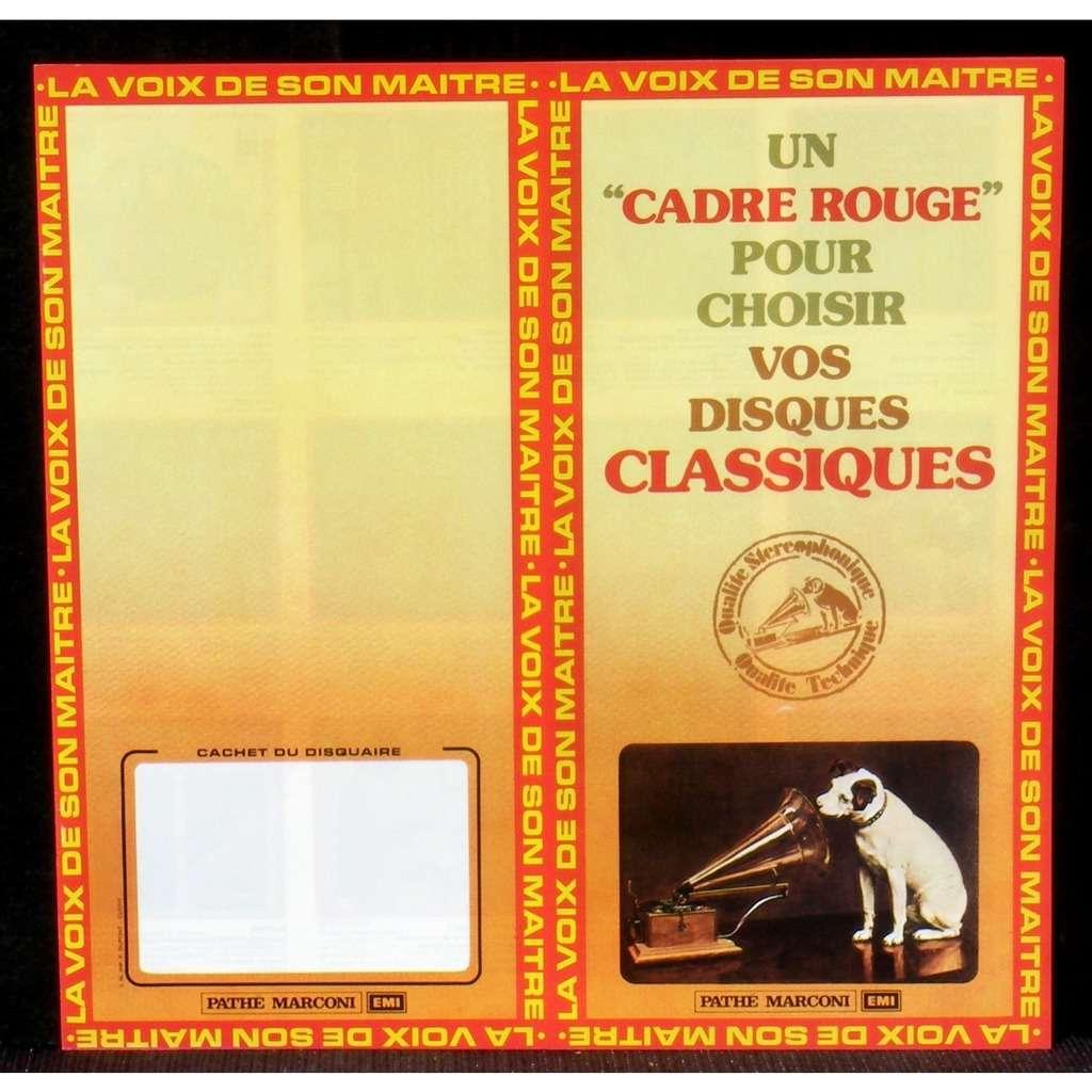 Catalogue EMI La Voix de son maître Cadre rouge Catalogue EMI La Voix de son maître Pathé Marconi cadre rouge ca 1978 NM