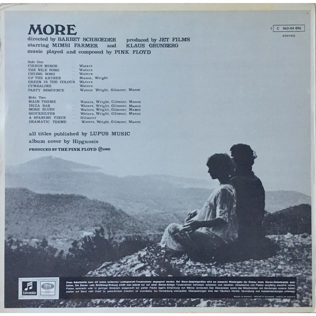 PINK FLOYD - MORE (GER. PRESSING 12 VINYL LP)