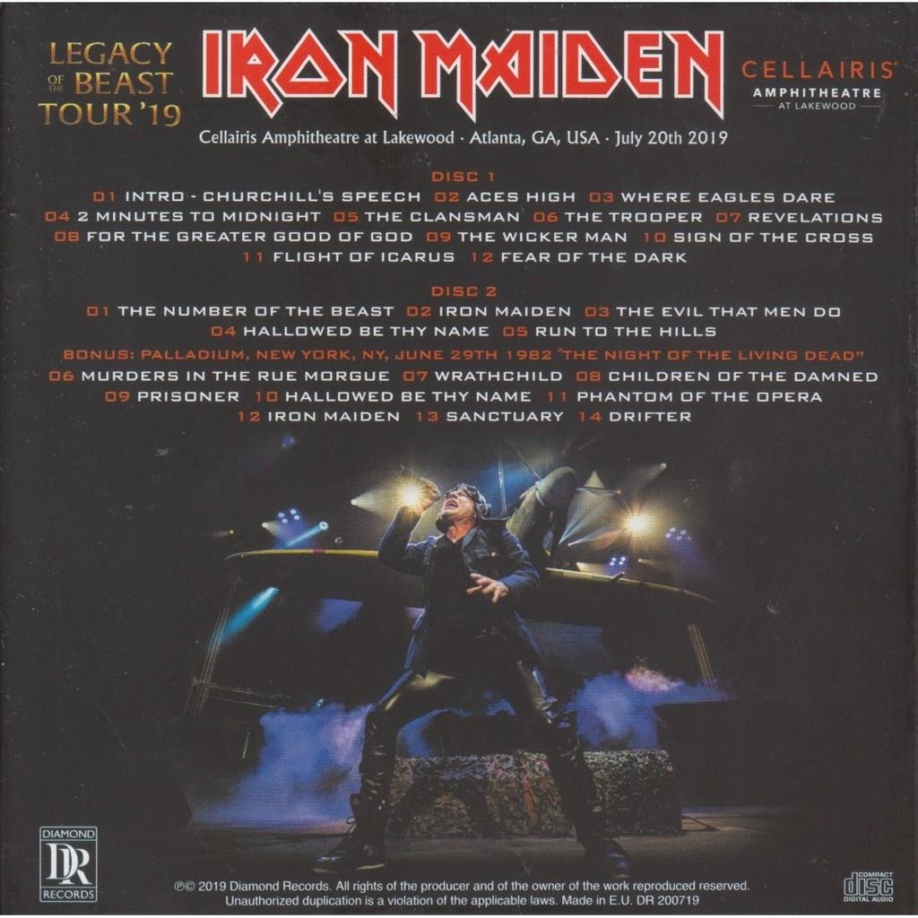 iron maiden LIVE IN ATLANTA 2019