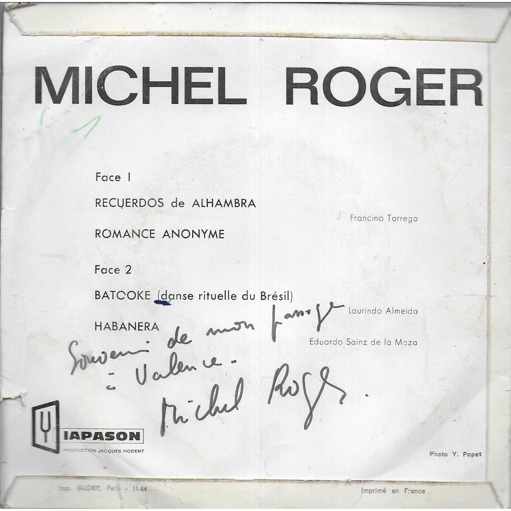 Michel ROGER guitare Recuerdos de Alhambra