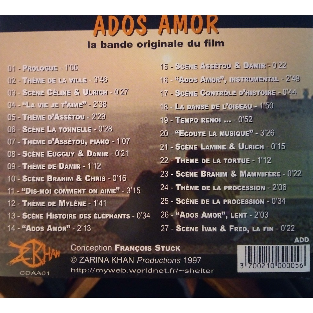 Pablo Bravo Ados Amor (La Bande Originale Du Film)