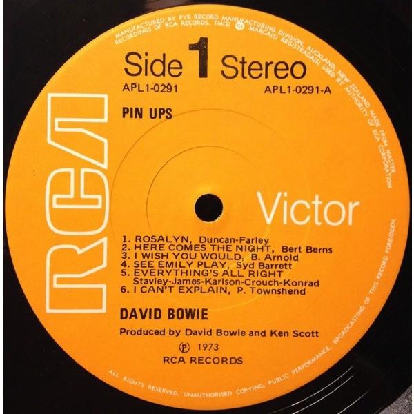 David Bowie Pinups (New Zealand 1973 original 12-trk LP on RCA-Pye orange lbl full ps+insert!!)