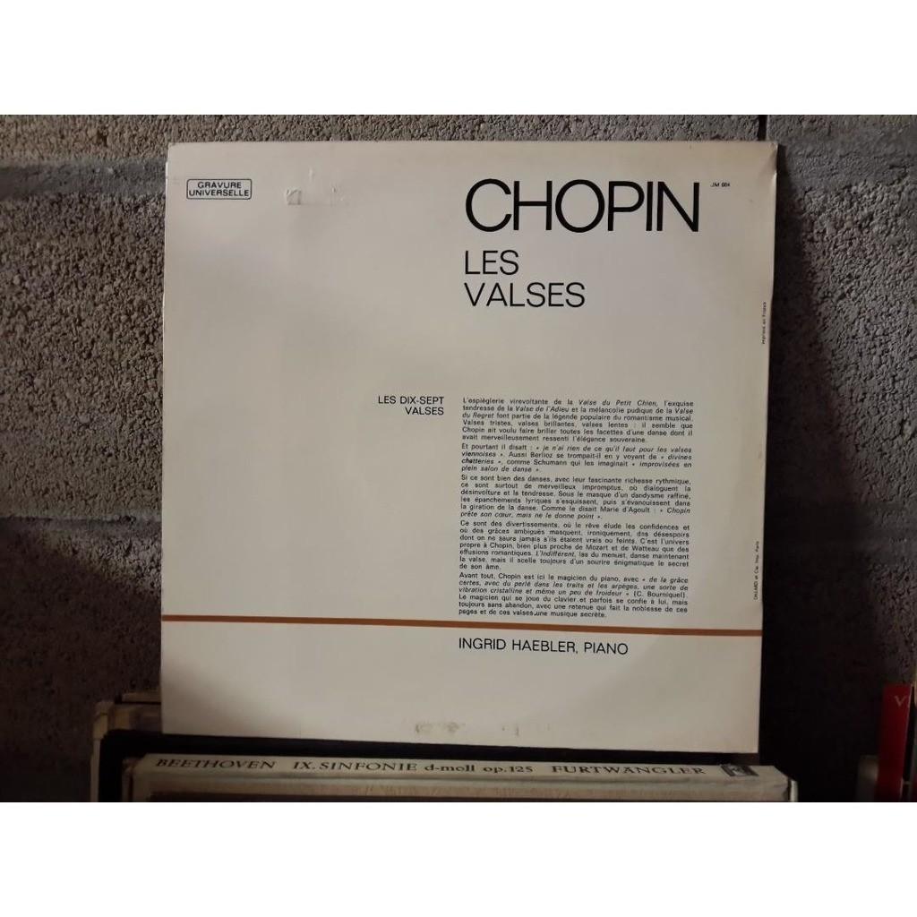 INGRID HAEBLER CHOPIN : les valses