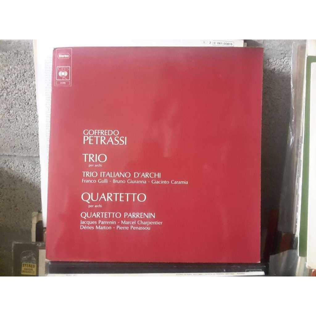 Trio Italiano d'Archi / Quartetto Parrenin Goffredo Petrassi : Trio per archi / Quartetto per archi