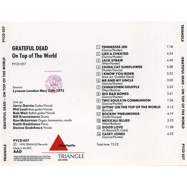 Grateful Dead – On Top Of The World