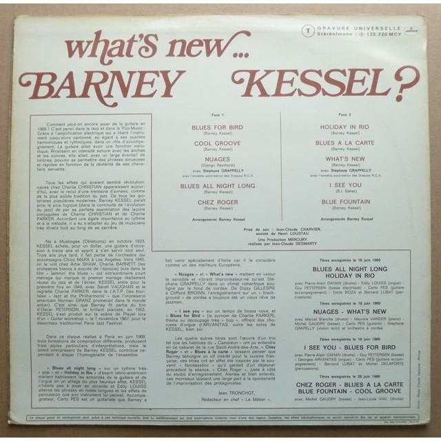 Barney Kessel What's New... Barney Kessel ?