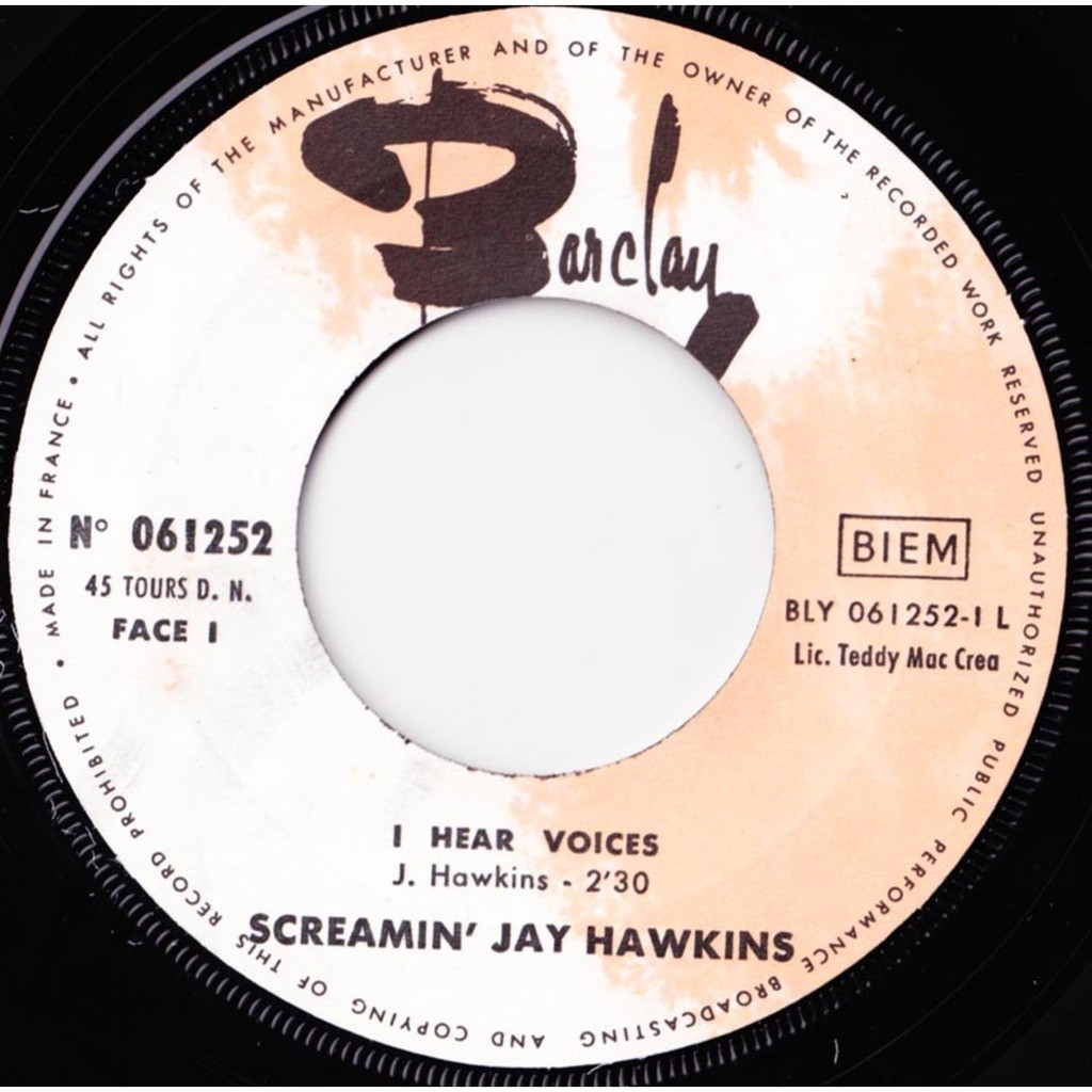 SCREAMIN' JAY HAWKINS I Hear Voices / Just Don't Care
