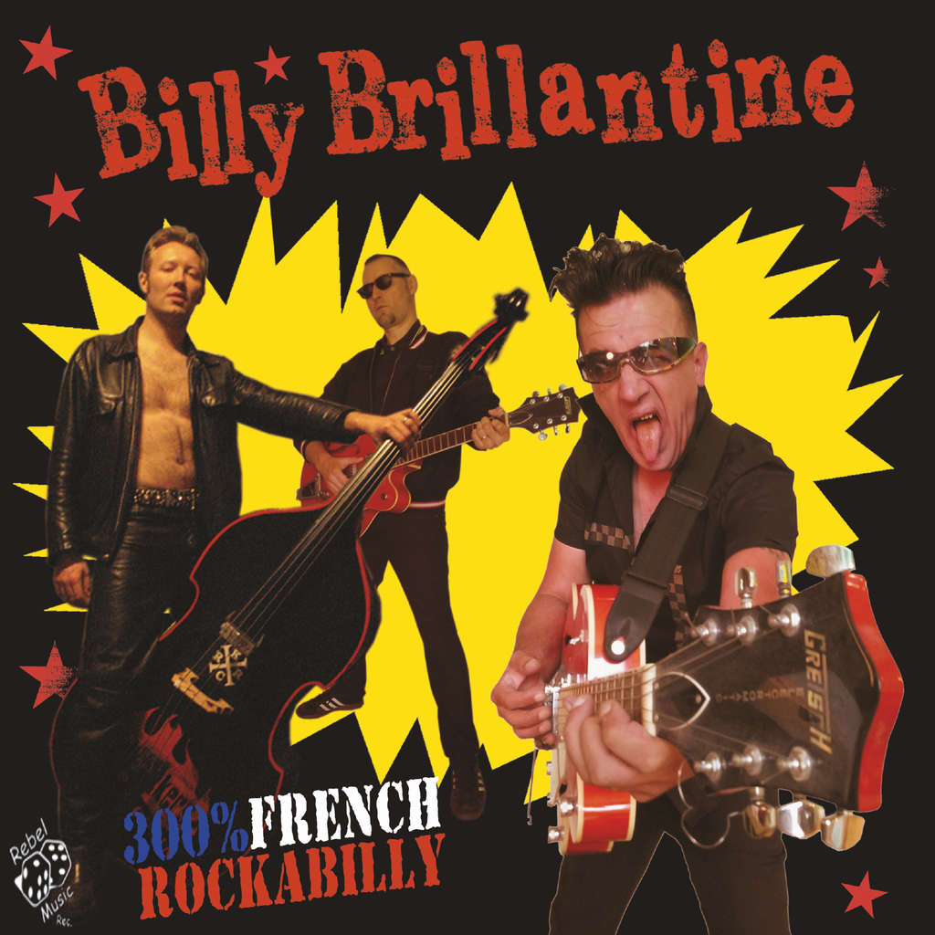 Billy Brillantine 300% French Rockabilly - black vinyl