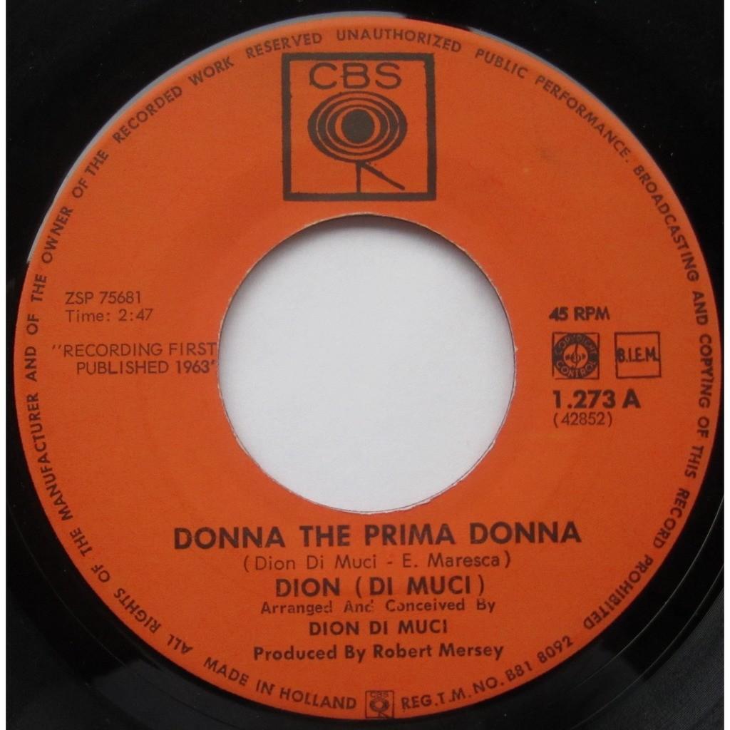 dion di muci donna the prima donna