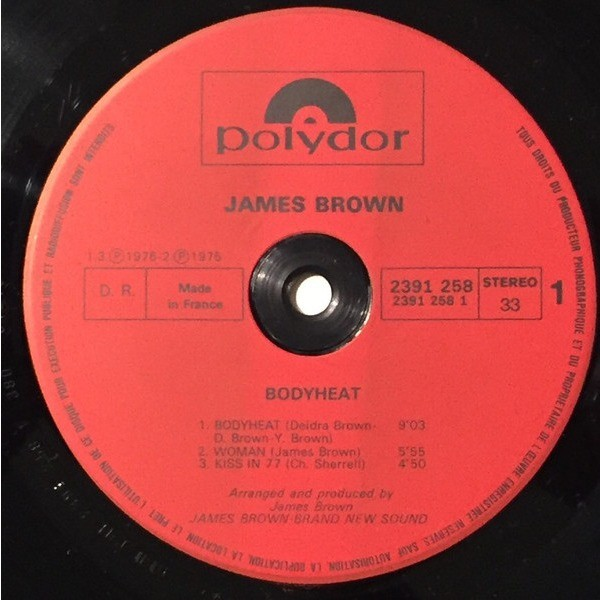 james brown Bodyheat