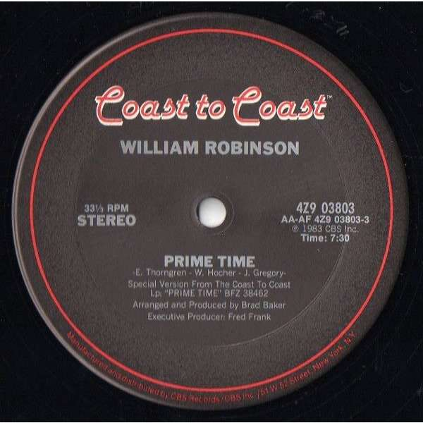 William Robinson Prime Time / I'm Ready