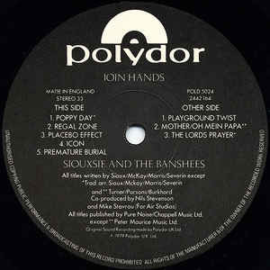 siouxsie & the banshees Join Hands