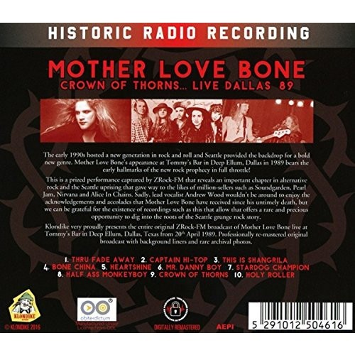 Mother Love Bone Crown Of Thorns… Live Dallas '89