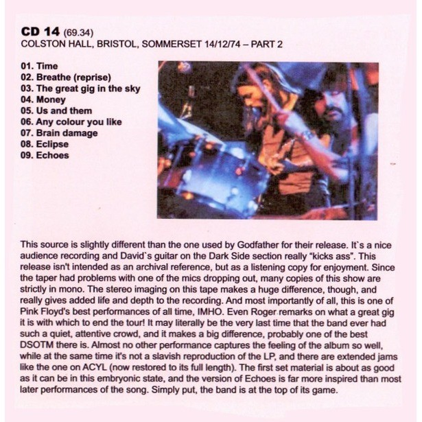Pink Floyd Some More From 1974 - A Look At The French Summer & British Winter Tour BOX 14 CD Lmt. 350 Copies