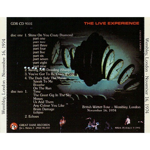pink floyd Black Holes In The Sky 1974 - Recorded At – Empire Pool, Wembley