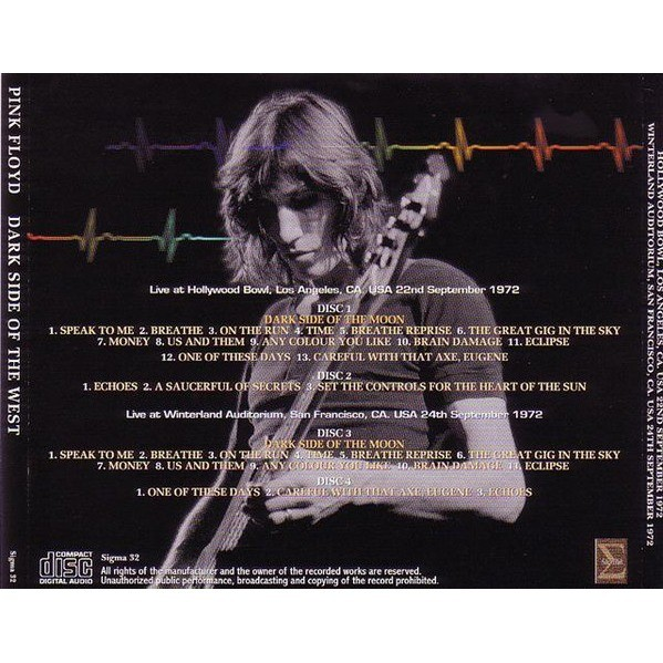 pink floyd Dark Side Of The West - 4CD Recorded At – Hollywood Bowl & Winterland 1972