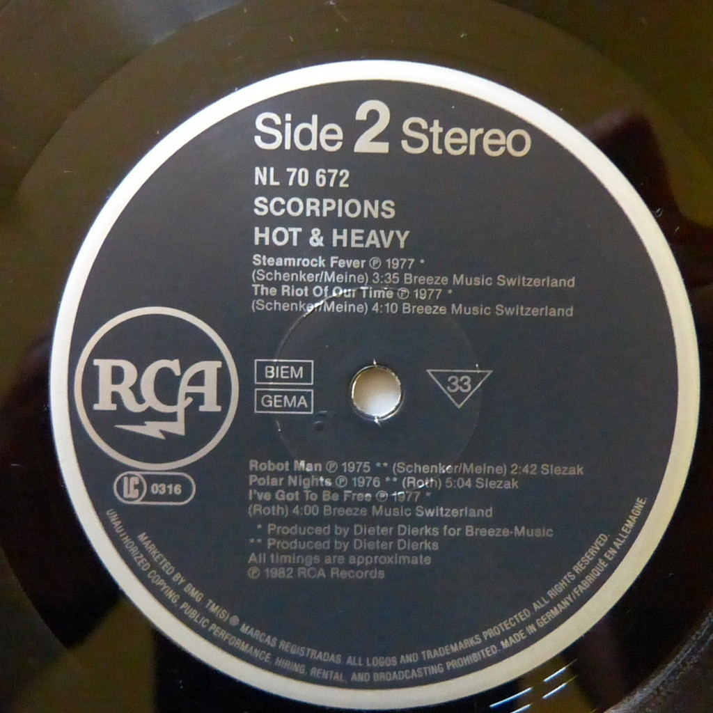 SCORPIONS hot and heavy