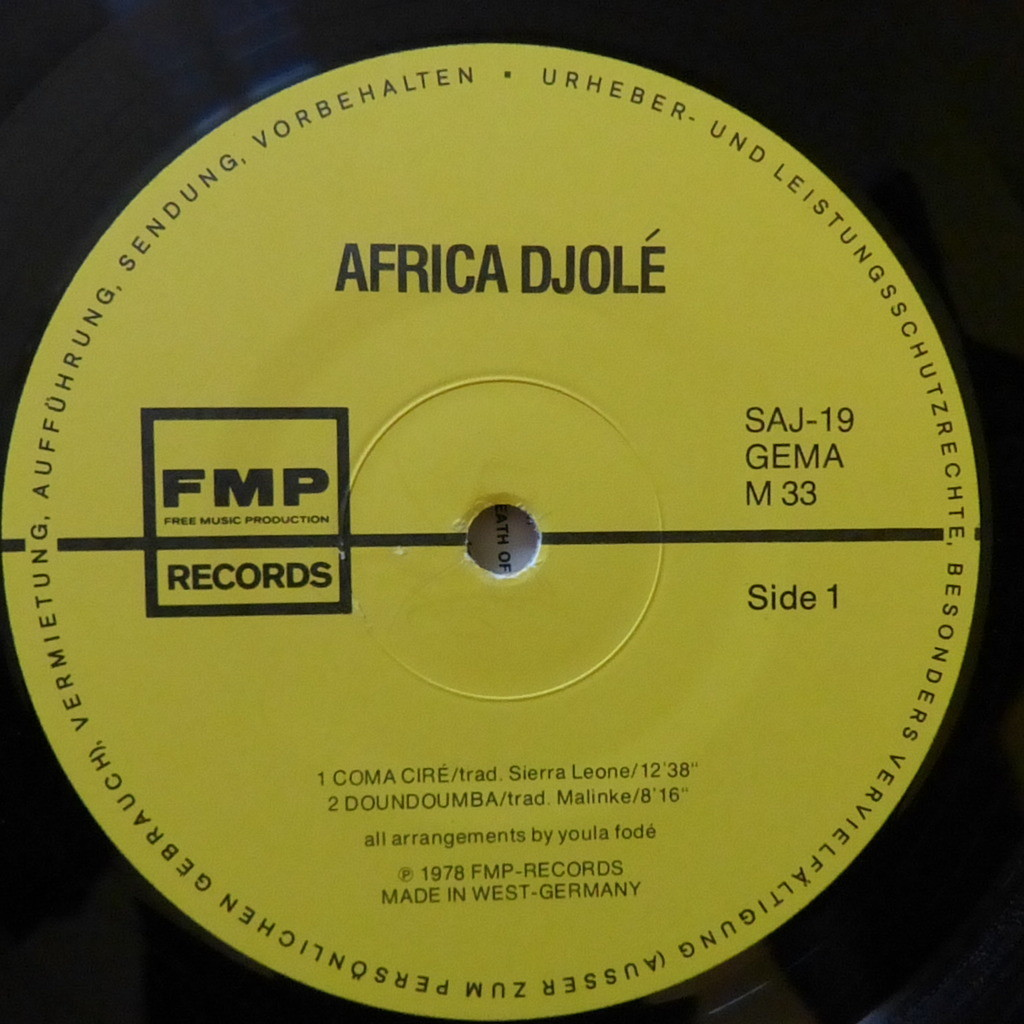 AFRICA DJOLE PERCUSSION MUSIC FROM AFRICA