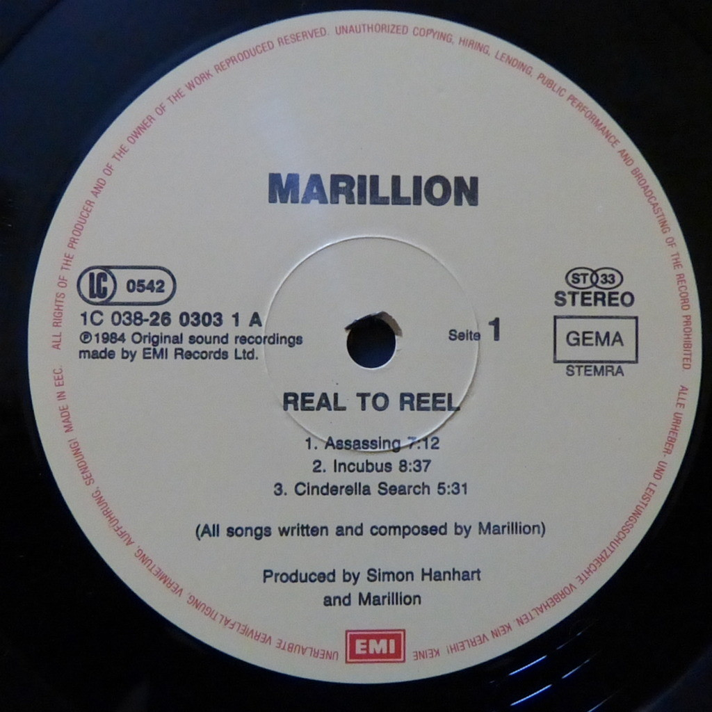 MARILLION REAL TO REEL