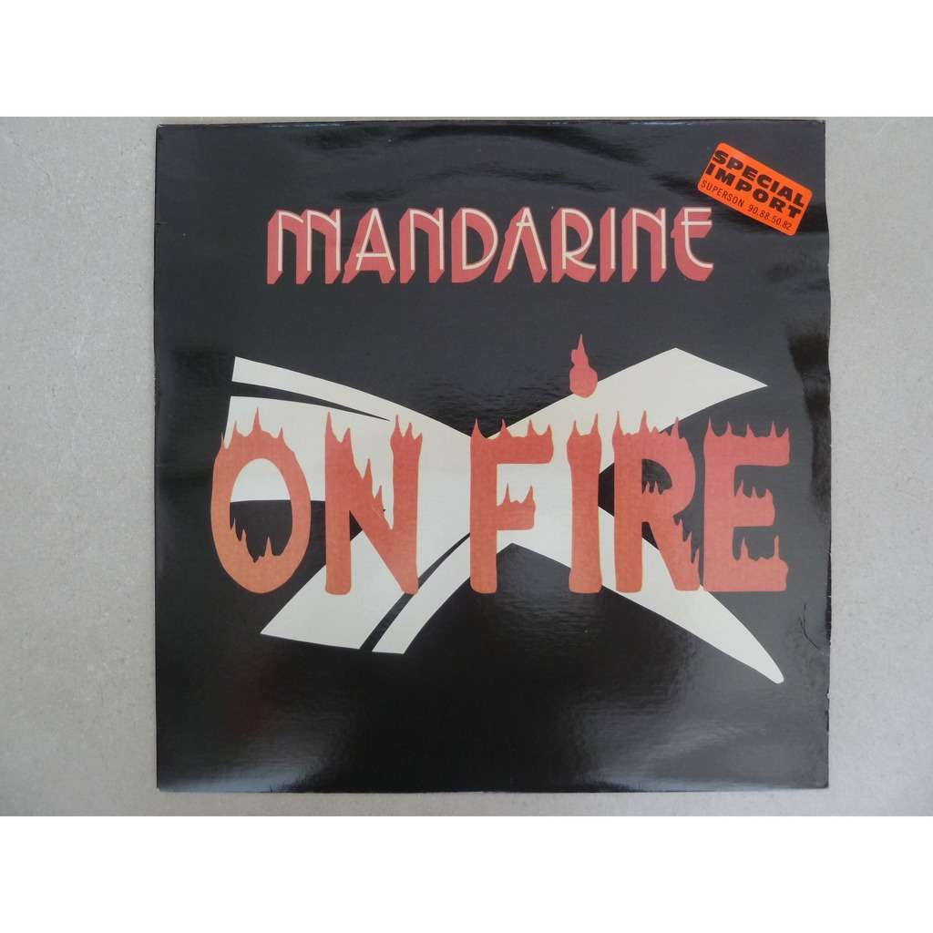mandarine on fire