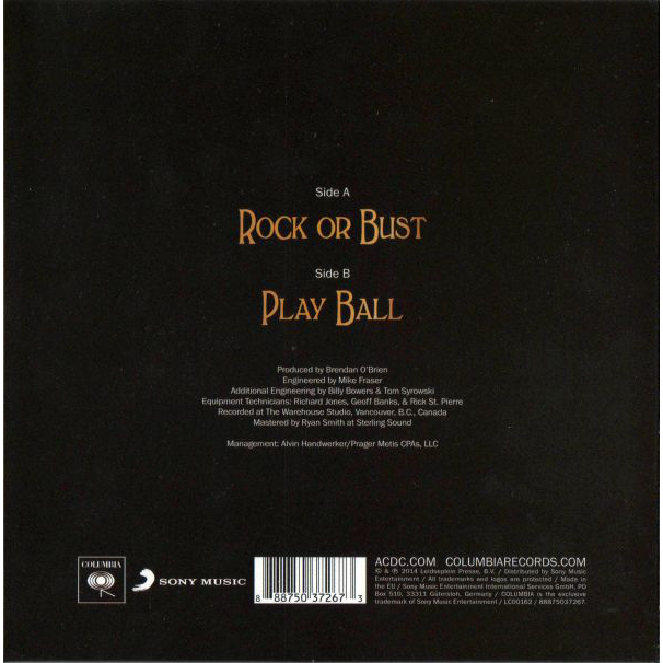 AC/DC Rock Or Bust (7')