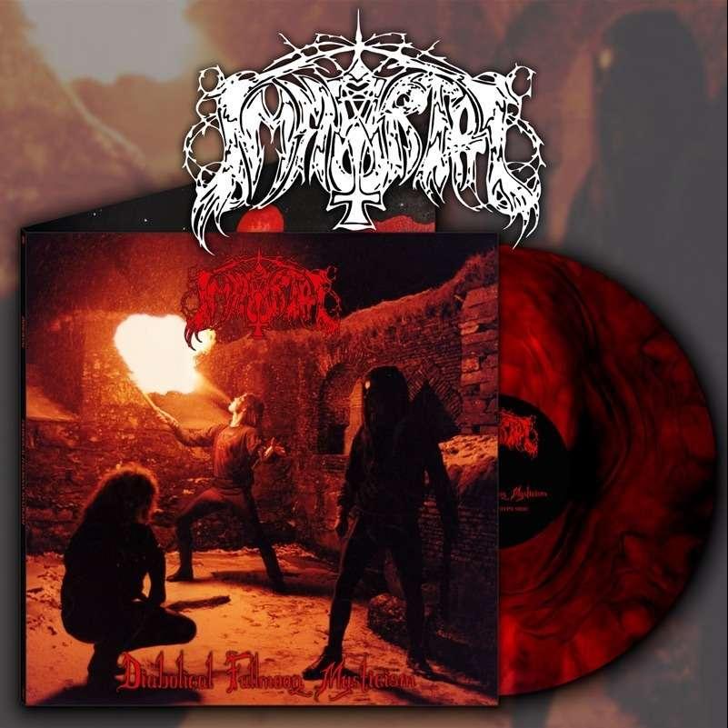 IMMORTAL Diabolical Fullmoon Mysticism. Red Galaxy Vinyl