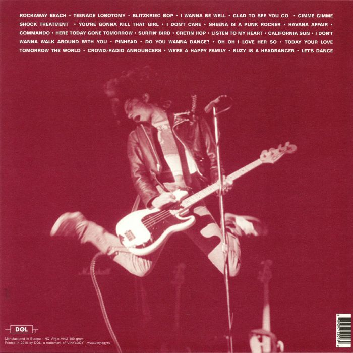 Ramones Live At The Old Waldorf, San Francisco January 31, 1978 (lp)